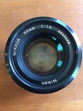 Nikon NIKKOR 50mm F/1.4 Lens Serial Number 4545448 Very Clean Fully Functioning