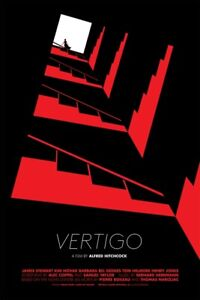 "Vertigo Red Variant Limited Screen Print Art Film Poster #120 24"" x 36"""