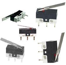 200 x Microswitch leva lunga miniatura pulsante fine corsa SPDT 1 A 125/250 V