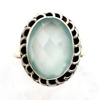 Milky Aventurine 925 Sterling Silver Ring Jewelry Sz 7, ED27-6