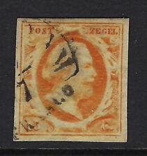 NETHERLANDS : 1852 15c orange-yellow  SG3b used