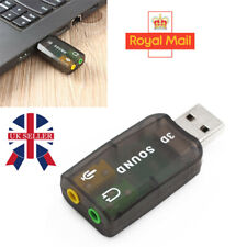 5.1USB to 3.5mm mic headphone Jack Stereo Headset 3D Sound Card Audio PC Adapter
