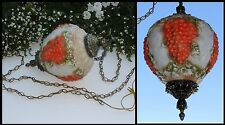 Glass FALKENSTEIN Embossed Grape Cluster Hanging Swag Ceiling Fixture Light Lamp