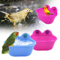 Plastic Small Parrot Oval Bird Bathtub Pet Cage Accessories Toy Pet Bath Basin