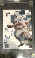 1999 SP Signature Edition Auto On-card Earl Morrall Football Blue Miami Dolphins