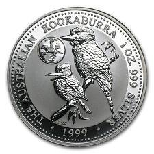 1999 1 oz Silver Kookaburra BU (Delaware Quarter Privy) - SKU #61275