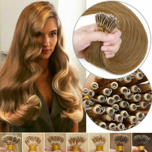 1G Nano Rings Tip Micro Russian/Indian Remy Human Hair Extensions Double Drawn