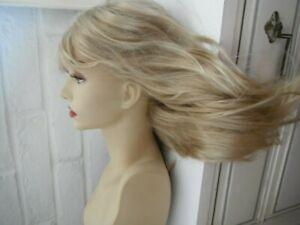 "Wigs By Pierre Brandi Monofilament Silk Top Silicone Grip In Lightest Blonde 18"""