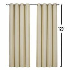 2Pack 50x120-Inch Outdoor Curtains Panel for Patio Grommets Waterproof, Beige