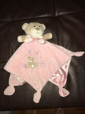 Carters Love Is My Little Teddy Bear Baby Security Blanket Satin Knotted Corner