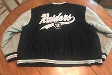 Vintage Oakland LA Raiders Men's XL Wool Logo 7 Script Jacket Starter Supreme