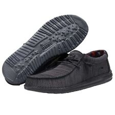 Hey Dude Wally Sox Jet Black Men's Shoes Comfortable Ligthweight SlipOn Casual