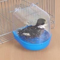 Bird Water Bath Tub For Pet Bird Cage Parrot Bath Room J5D7 Bathroom K8S4