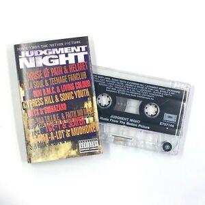 JUDGMENT NIGHT Soundtrack Cassette Tape Pearl Jam Sonic Youth De La Soul Rare