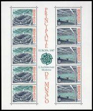 Monaco Scott #1564a VF MNH 1987 Europa - Architecture Mini-Sheet of 10
