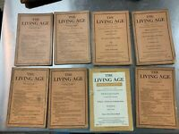 8 issues of The Living Age Magazine 1924 & 1925 Great articles, stories, poems