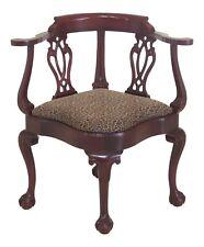 31503EC: HANCOCK and MOORE Ball & Claw Mahogany Corner Chair