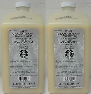 Starbucks White Chocolate Mocha Sauce Syrup Coffee 2 Bottles Best Before 12/20