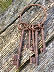 Bunch Rusty Old Heavy Large Keys