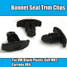 10x Clips For VW Bonnet Seal Trim Golf MK2 Corrado VR6 Bus Black Plastic