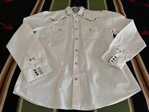 Ralph Lauren DENIM & SUPPLY White Snap Front Men's SHIRT Size Large – w/ Conchos