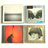 4 x U2 CD Albums - The Best of 1980-1990, 1990-2000, Blood Red Sky, Line Horizon
