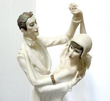 "Giuseppe Armani 17"" Figurine 0437 F Tango 1987 Florence Lady Man Dancing"