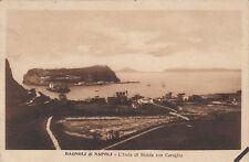 NP1133 - BAGNOLI NAPOLI - NISIDA E COROGLIO VIAGGIATA 1929 FB ASPORTATO