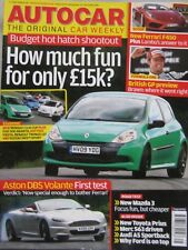 Autocar magazine 17/6/2009 featuring Mazda road test, Abarth, Ford, Renault