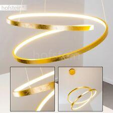 Lampe à suspension dorée Lustre Design LED Plafonnier Luminaire de salon 162253