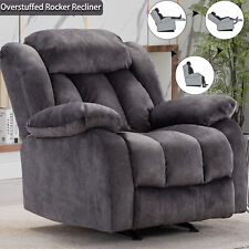 Overstuffed Rocker Recliner Chair Bayby Glider Chair Thick Armrest Lounge Sofa
