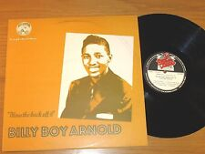 "UK IMPORT BLUES LP - BILLY BOY ARNOLD - RED LIGHTNIN 0012 ""BLOW THE BACK OFF IT"""