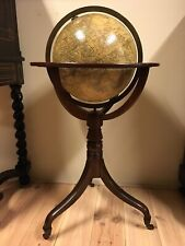 Very Decorative Large English Antique 14 inch Terrestrial Library Globe London