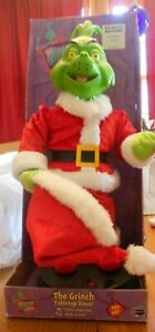 """Grinch Christmas Decor, Animated Singing """"You're a Mean One Mister Grinch"""""""