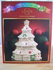 Lenox Seasons Sparkle Porcelain Christmas Tree Color Changing Lit Figurine NIB