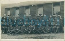 More details for inter war army pay corps soldiers at camp hut  group photo