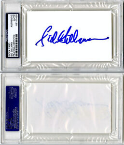 Sid Gillman SIGNED 3x5 Index Card San Diego SD Chargers DEC PSA/DNA AUTOGRAPHED