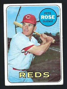 1969 #120 Topps Pete Rose Baseball Carte Plié Corners