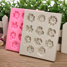 11 Flowers Lace Fondant Mold Bake Cake Border Sugar Icing Paste Silicone Mould