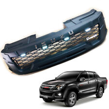 Matte Black Front Grille Grill LEDs For Isuzu D-max DMAX 2012 2013 2014 2015