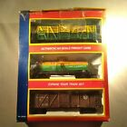 NIB Life Like HO Scale 3-Pack Fast Freight Cattle Car Tanker Reefer Toy Train