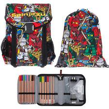 3 Teile Set Ranzen Lego Schulranzen Ranzen Tasche gef. 20015 Easy Ninjago Comic