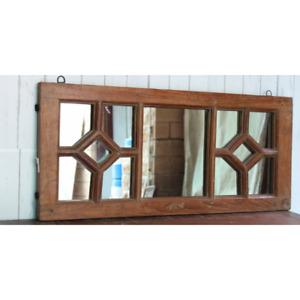 Handcrafted Antique wooden Vintage mirror frame decorative garden window frame