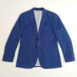 Crew Clothing Mens Blue 42R Blazer Smart Casual Formal Suit Races Wedding Check