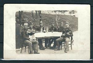 AUSTRIA BOSNIA WWI SOLDIERS IN TREBINJE BOSNIA REAL PHOTO POSTCARD AMAZING