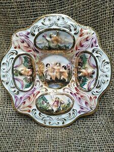 Vintage R. Capodimonte Ceramic Wall Plate