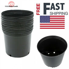 3 Gallon Nursery Pots (10 Pack) Flower Plant Reusable Garden Hydroponic Stacking