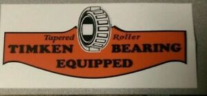 """Timken Tapered Roller Bearing Vintage Style Decal Large 8"""" Tool Box"""