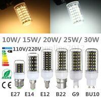 E14 E27 E12 B22 G9 GU10 10/15/20/25/30W LED 4014 SMD Mais Lampada Lampadina 360°