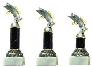3er Serie Pokale Angeln (638-BARSCH) 23,5-21,0 cm inkl.Gravur 28,95 EUR